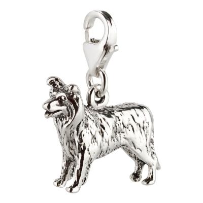 Charm / Anhänger 925 Silber Hund Border Collie 3