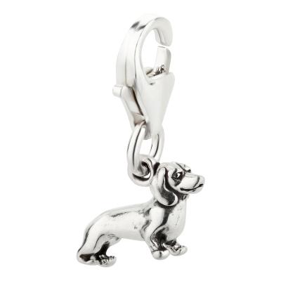 Charm / Anhänger 925 Silber Hund Dackel 1