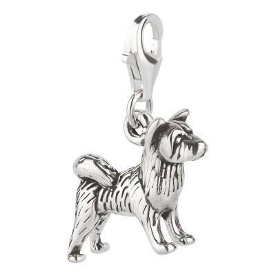 Charm / Anhänger 925 Silber Hund Akita 2