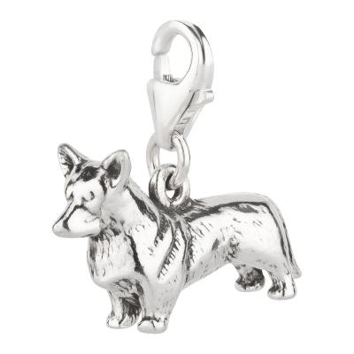 Charm / Anhänger 925 Silber Hund Corgi 3