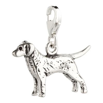 Charm / Anhänger 925 Silber Hund Retriever 2