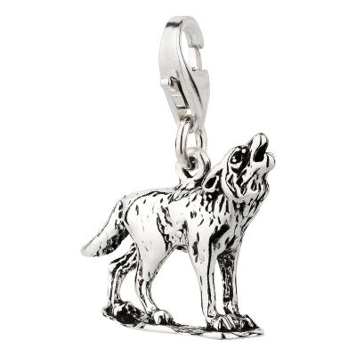 Charm / Anhänger 925 Silber Wolf 2