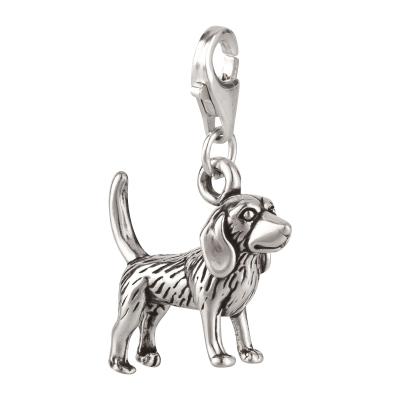 Charm / Anhänger 925 Silber Hund Beagle 2