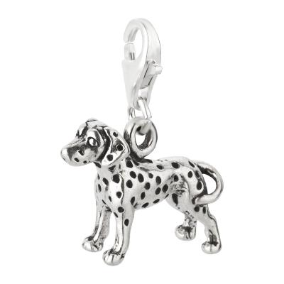 Charm / Anhänger 925 Silber Hund Dalmatiner 2