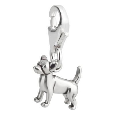 Charm / Anhänger 925 Silber Hund Chihuahua 1