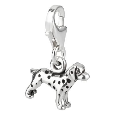 Charm / Anhänger 925 Silber Hund Dalmatiner