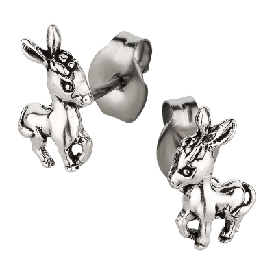Ohrstecker 925 Silber Esel