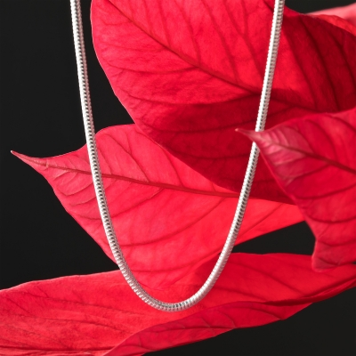 Schlangenkette flexibel 925 Sterling Silber 1,5 mm