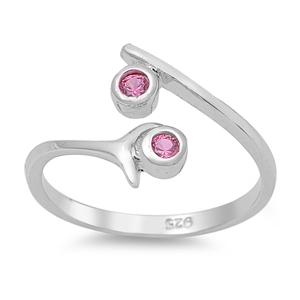 Zehenring 925 Silber Rosa Zirkonia 2