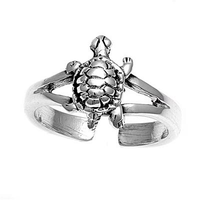 Zehenring 925 Silber Schildkröte 1
