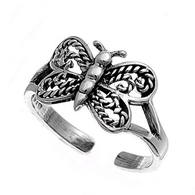 Zehenring 925 Silber Schmetterling 1