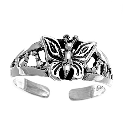 Zehenring 925 Silber Schmetterling 3
