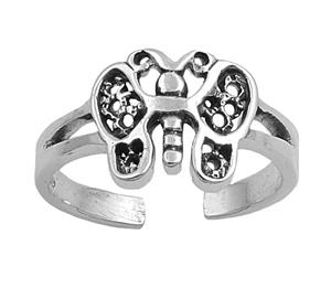 Zehenring 925 Silber Schmetterling 5