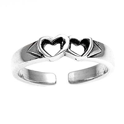 Zehenring 925 Silber Herz 3