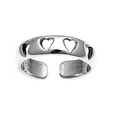 Zehenring 925 Silber Herz 5