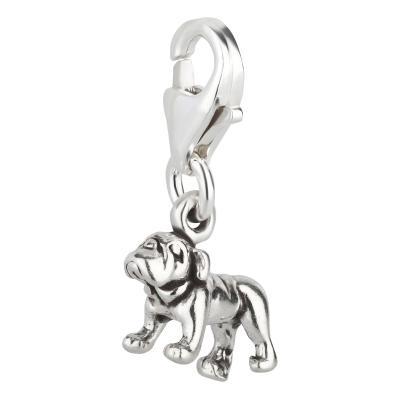 Charm / Anhänger 925 Silber Hund Bulldogge 2