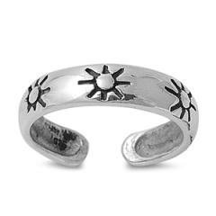 Zehenring 925 Silber Sonne