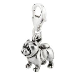 Charm / Anhänger 925 Silber Hund Chow Chow