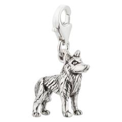 Charm / Anhänger 925 Silber Hund Husky
