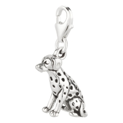 Charm / Anhänger 925 Silber Hund Dalmatiner 3