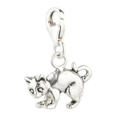 Charm / Anhänger 925 Silber Katze 2