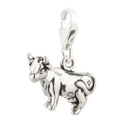 Charm / Anhänger 925 Silber Kuh