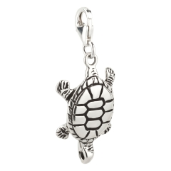 Charm / Anhänger 925 Silber Schildkröte 4