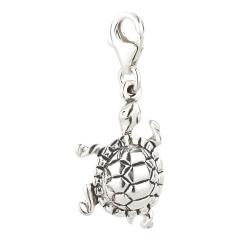 Charm / Anhänger 925 Silber Schildkröte 5