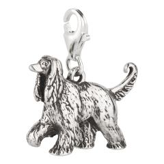 Charm / Anhänger 925 Silber Hund Afghane / Afghanischer Windhund