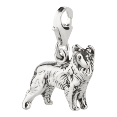 Charm / Anhänger 925 Silber Hund Collie 2