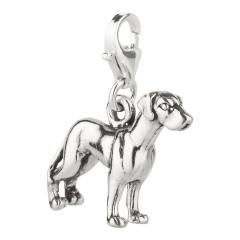 Charm / Anhänger 925 Silber Hund Dogge 2