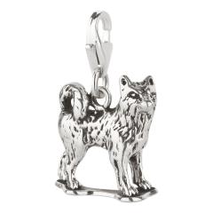 Charm / Anhänger 925 Silber Hund Husky 2