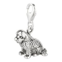 Charm / Anhänger 925 Silber Hund Neufundländer