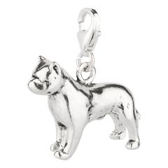 Charm / Anhänger 925 Silber Hund Pitbull 2