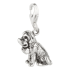 Charm / Anhänger 925 Silber Hund St. Bernard 3 / Bernhardiner
