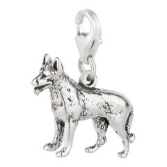 Charm / Anhänger 925 Silber Hund Schäferhund 4