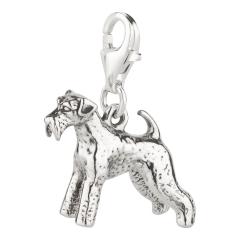 Charm / Anhänger 925 Silber Hund Schnauzer 2