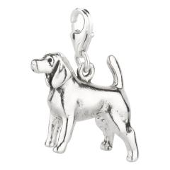 Charm / Anhänger 925 Silber Hund Spaniel 2