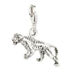 Charm / Anhänger 925 Silber Tiger