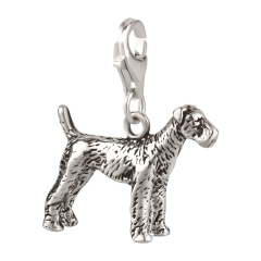 Charm / Anhänger 925 Silber Hund Airedale
