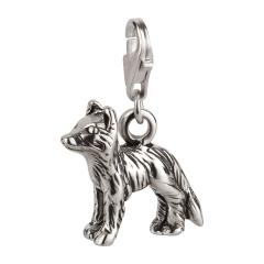 Charm / Anhänger 925 Silber Hund Border Collie 1