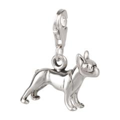Charm / Anhänger 925 Silber Hund Boston Terrier 1
