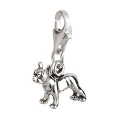 Charm / Anhänger 925 Silber Hund Boston Terrier 2