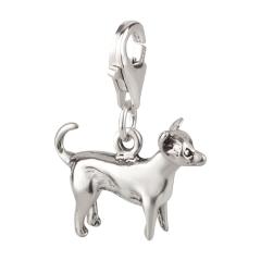 Charm / Anhänger 925 Silber Hund Chihuahua 3
