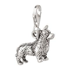 Charm / Anhänger 925 Silber Hund Corgi 2