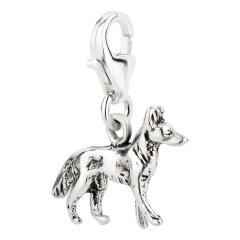 Charm / Anhänger 925 Silber Hund Schäferhund 1