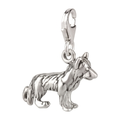 Charm / Anhänger 925 Silber Hund Schäferhund 3