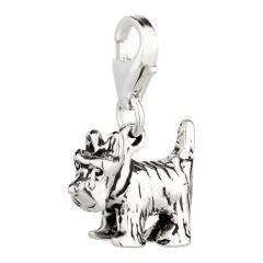 Charm / Anhänger 925 Silber Hund Scottish Terrier 1