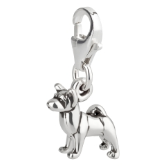 Charm / Anhänger 925 Silber Hund Akita