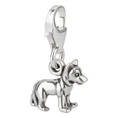 Charm / Anhänger 925 Silber Hund Schäferhund 2